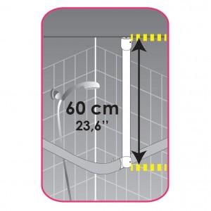 Pomoćna šipka za zavesu alu 60 MSV France 140365