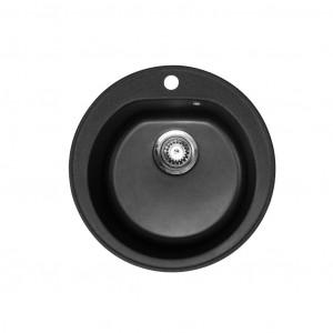 METALAC Granitna sudopera X Granit- Venera E510/180 fi 90 sa sifonom CRNA 113000