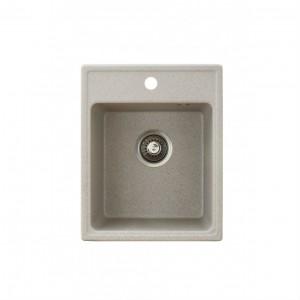 METALAC Granitna sudopera X Granit  Quadro 40 400x500 fi 90 sa sifonom BEIGE 152983