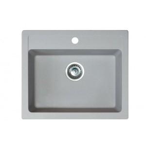 METALAC Granitna sudopera X Granit  Quadro 60 600x500 fi 90 sa sifonom SIVA 161966