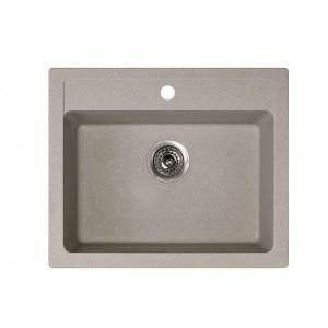 METALAC Granitna sudopera X Granit  Quadro 60 600x500 fi 90 sa sifonom BEIGE 161967