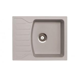 METALAC Granitna sudopera X Granit  Quadro M 620x500 fi 90 sa sifonom SIVA 144116