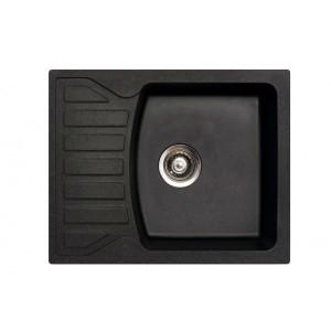 METALAC Granitna sudopera X Granit  Quadro M 620x500 fi 90 sa sifonom CRNA 144118