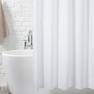 Zavesa za kupatilo Bela CN7301 180x200cm sa alkama