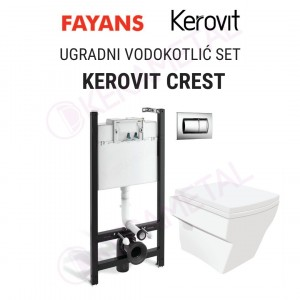 Ugradni vodokotlić SET KEROVIT CREST