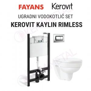 Ugradni vodokotlić SET KEROVIT KAYLIN RIMLESS