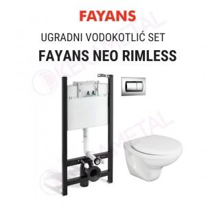 Ugradni vodokotlić RIMLESS SET FAYANS NEO