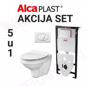 Ugradni vodokotlić Alca plast SET01 sa wc šoljom Cersanit 5u1