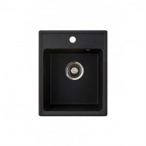 METALAC Granitna sudopera X Granit  Quadro 40 400x500 fi 90 sa sifonom CRNA 152981